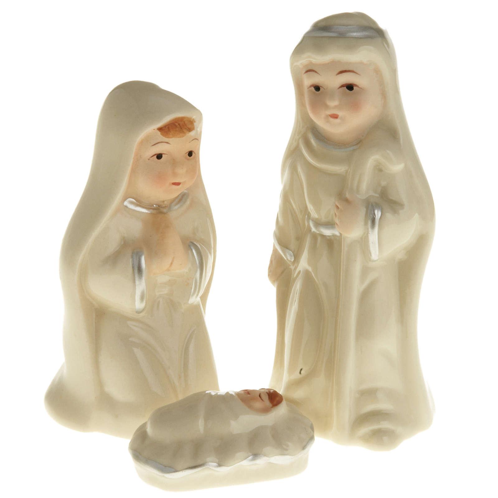 Nativity set, pearled ceramic 3