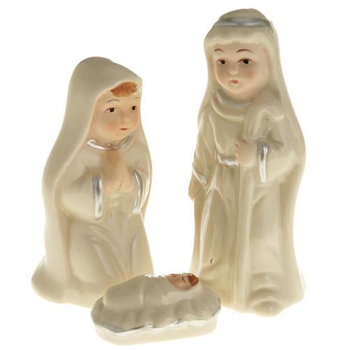 Nativity set, pearled ceramic 1