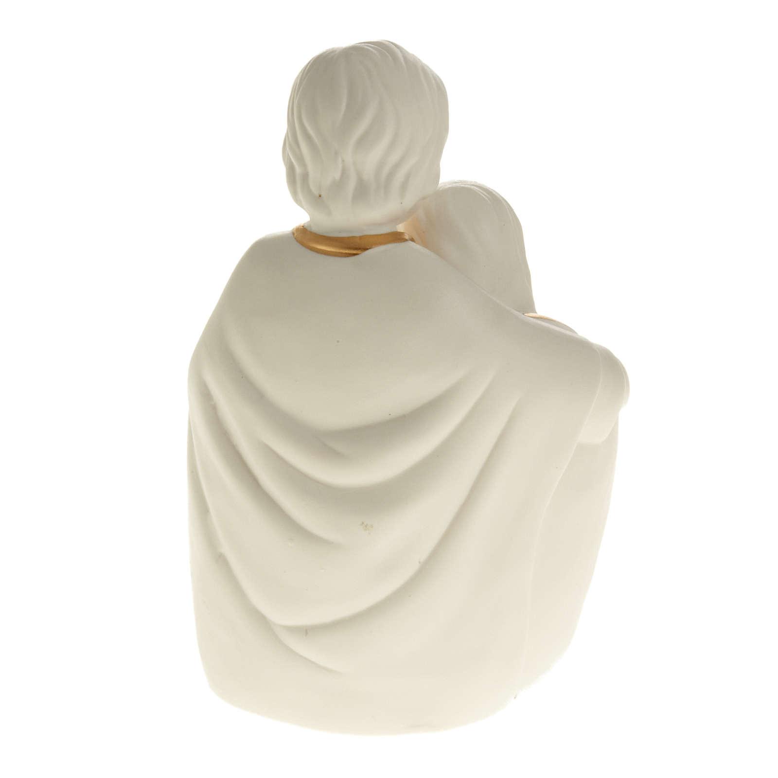 Natività ceramica bianco e oro 3