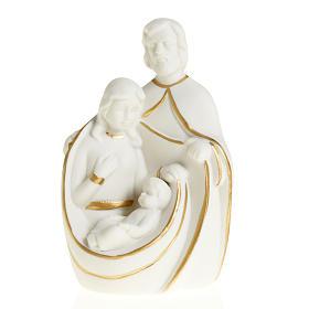 Natività ceramica bianco e oro s1