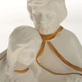 Natività ceramica bianco e oro s4