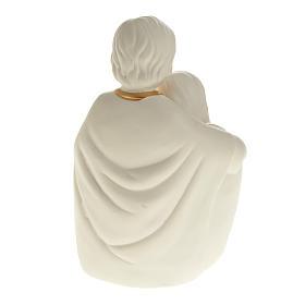 Natività ceramica bianco e oro s5