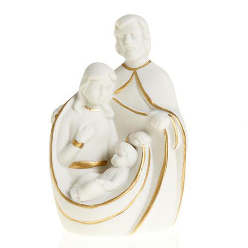 Natività ceramica bianco e oro 1