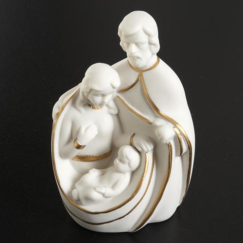 Natività ceramica bianco e oro 2
