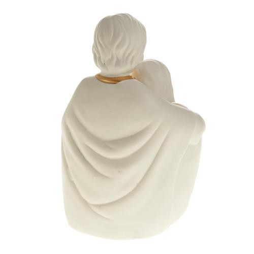 Natività ceramica bianco e oro 5