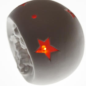 Natività sfera ceramica luce led colorata s2