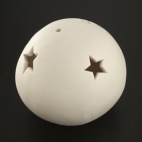 Natività sfera ceramica luce led colorata s7