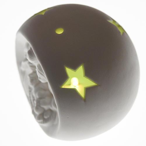 Natività sfera ceramica luce led colorata 4