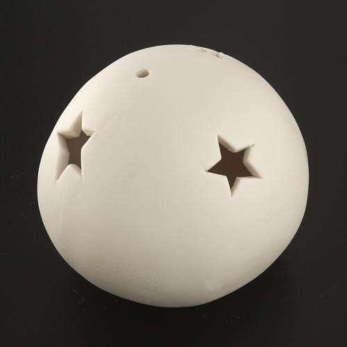 Natività sfera ceramica luce led colorata 7