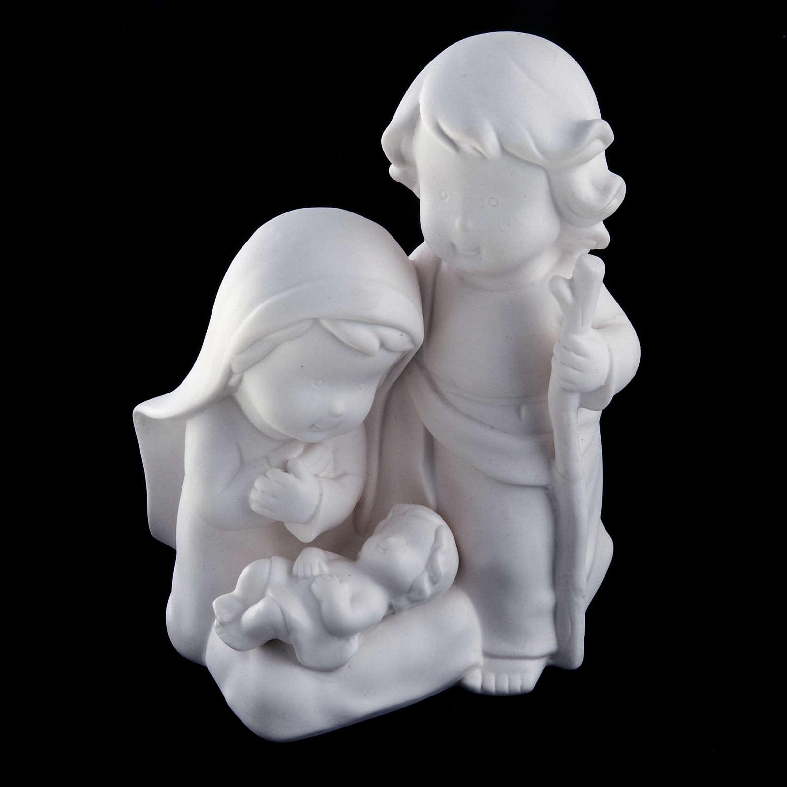 Stylized Nativity, white ceramic 3