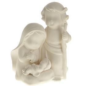 Stylized Nativity, white ceramic s1