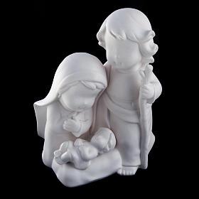 Stylized Nativity, white ceramic s2