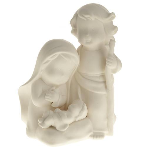 Stylized Nativity, white ceramic 1