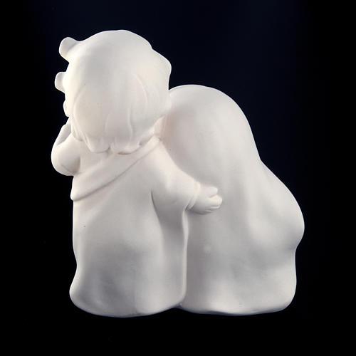 Stylized Nativity, white ceramic 4