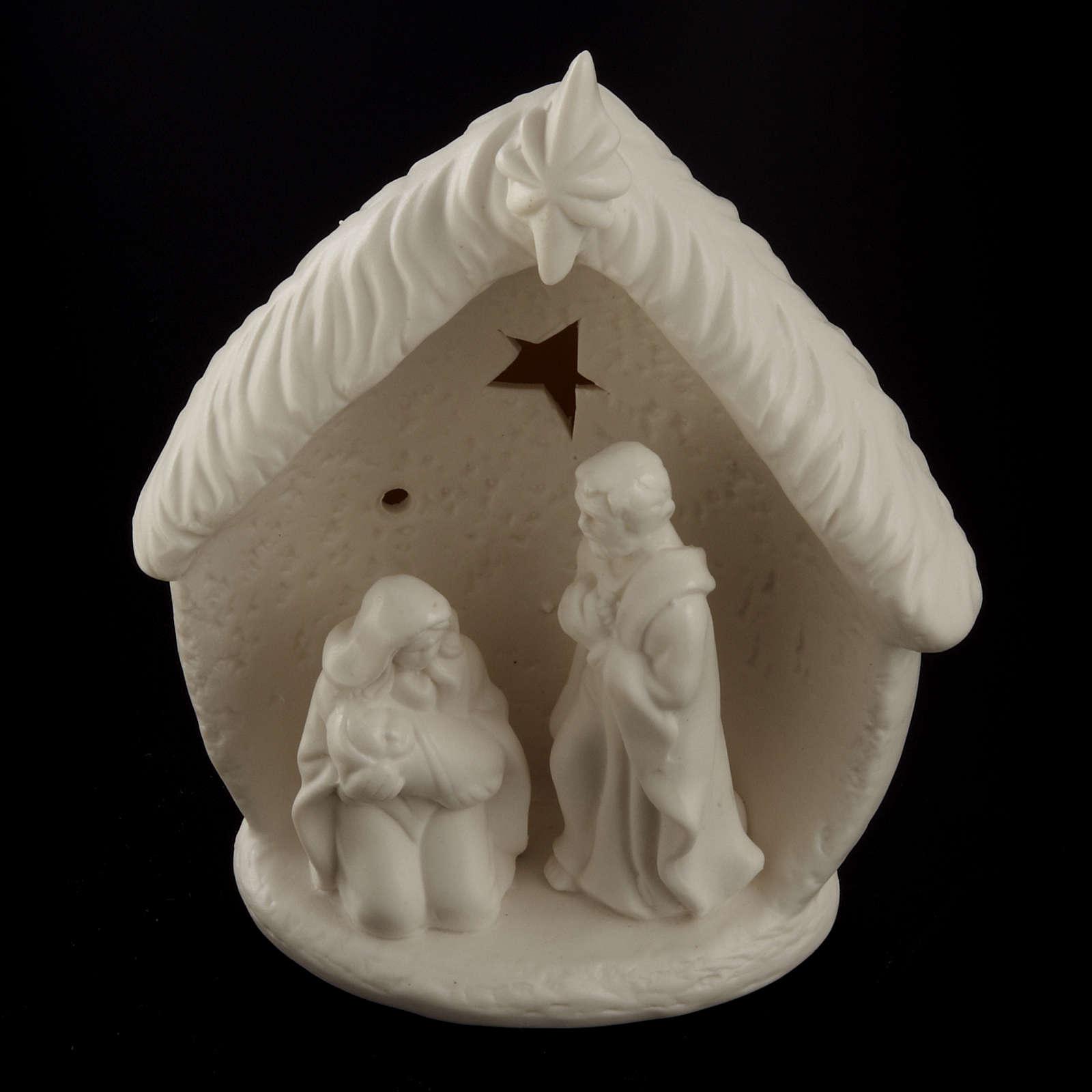 Natividad con cabaña cerámica 3