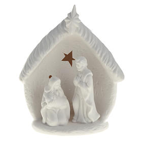 Natividad con cabaña cerámica s1