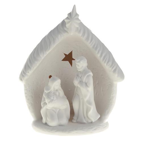 Natividad con cabaña cerámica 1