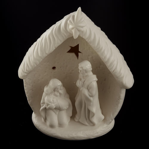 Natividad con cabaña cerámica 2