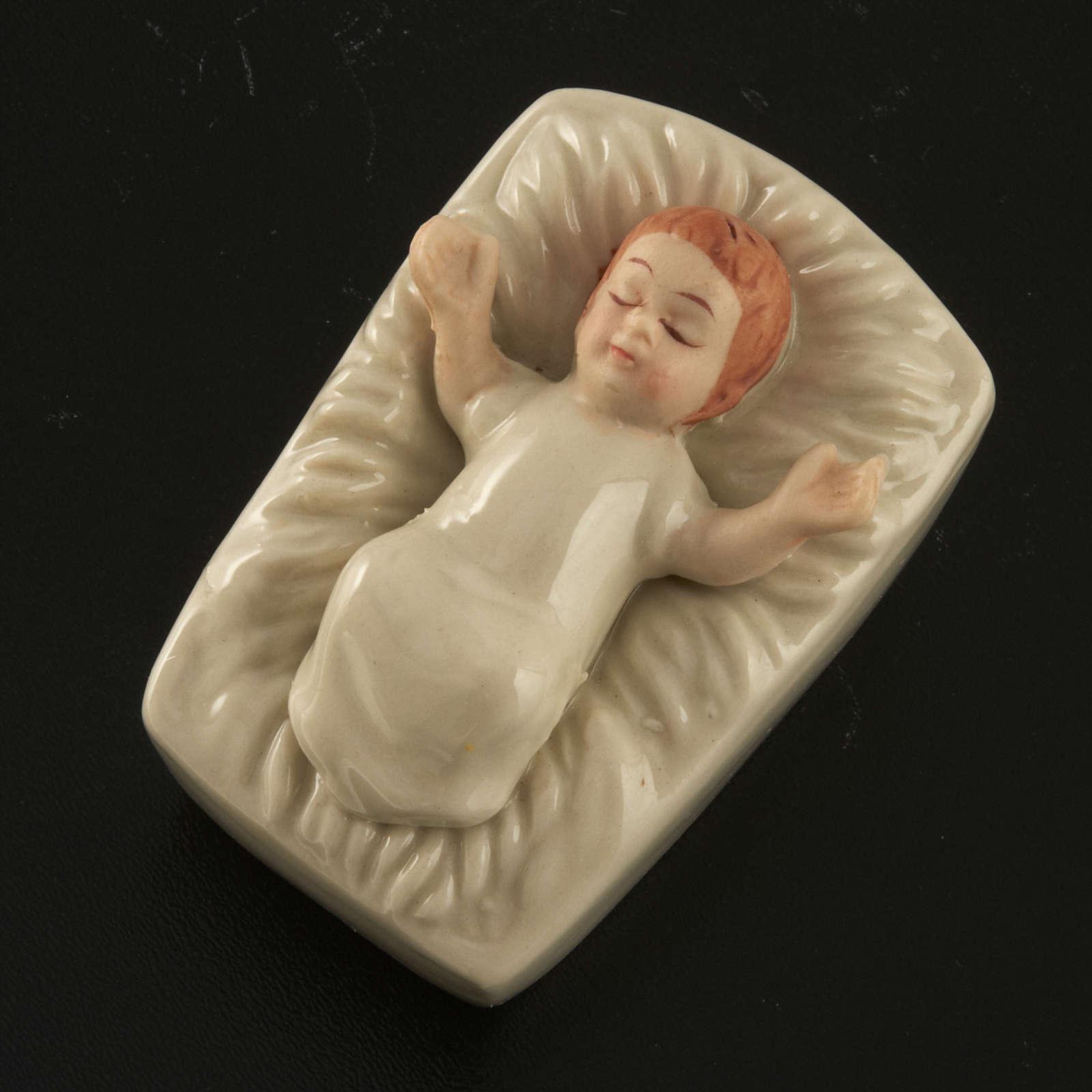 Natività ceramica bianca con colori 18 cm 3