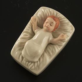 Natività ceramica bianca con colori 18 cm s4
