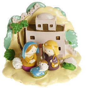 Nacimiento: Natividad con paisaje resina colorada 8 x 12
