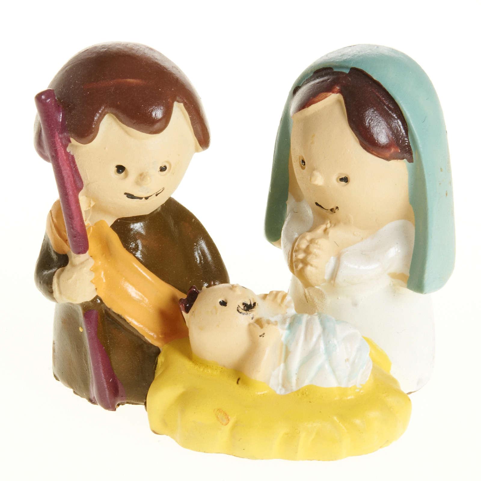 Natività bambini 3 cm resina 3
