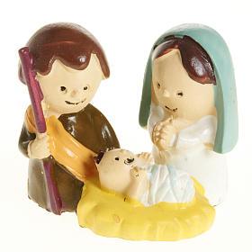 Natività bambini 3 cm resina s1