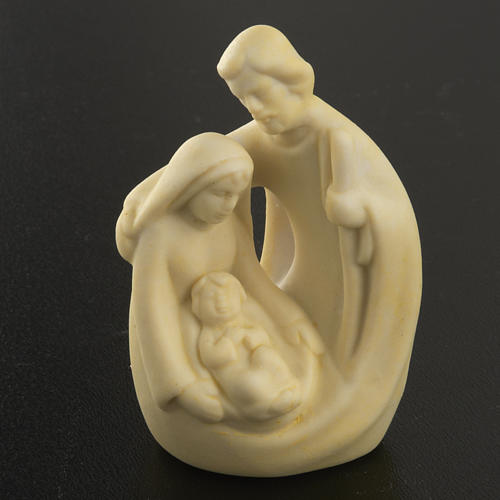 Natività ceramica bianca 6 cm semplice 2