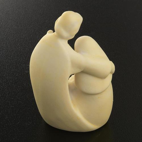 Natività ceramica bianca 6 cm semplice 3
