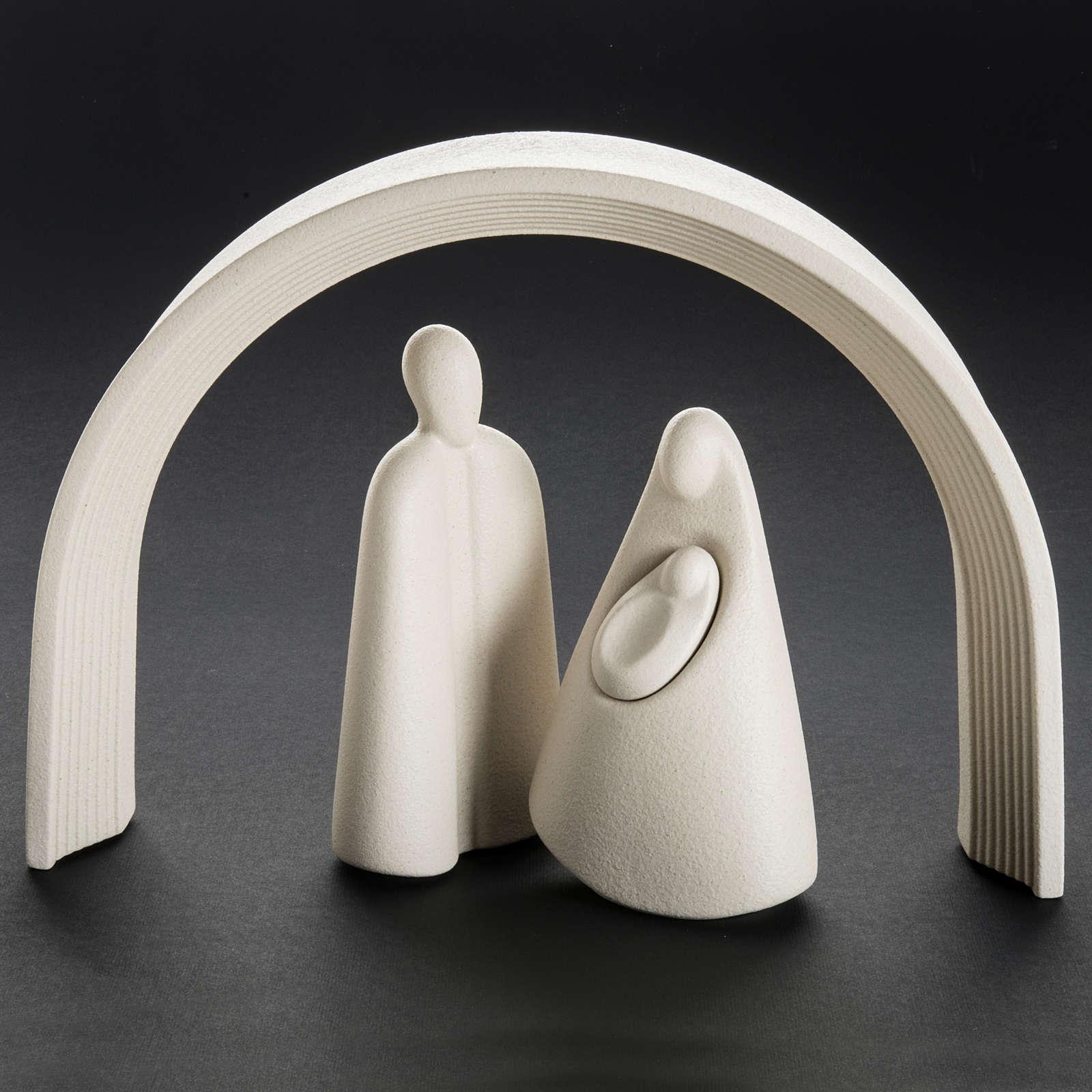 Nativity, stylised in grès porcelain stoneware 25 cm 3