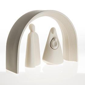 Nativity, stylised in grès porcelain stoneware 25 cm s5