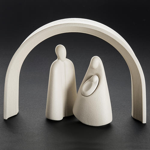 Nativity, stylised in grès porcelain stoneware 25 cm 7