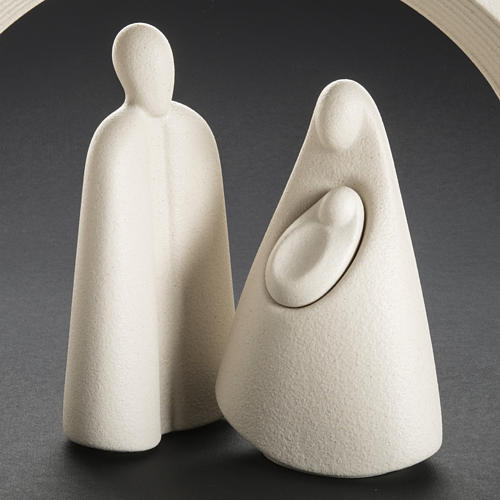 Nativity, stylised in grès porcelain stoneware 25 cm 8