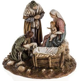 Nativity on base by Landi, 16 cm s1
