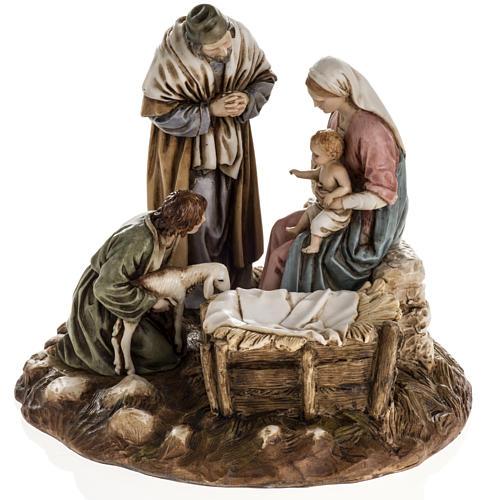 Nativity on base by Landi, 16 cm 1