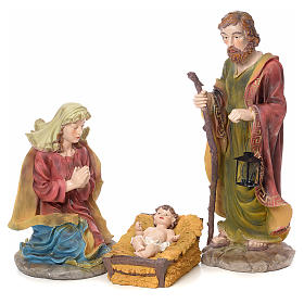 Nativity scene in resin with gold finish, 12 figurines, 52cm s2