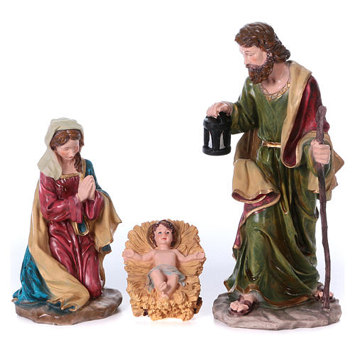 Pesebre completo 50cm resina 10 estatuas mod. color 2