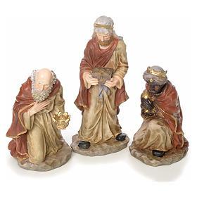 Presepe completo 50 cm resina 10 statue mod. color s3