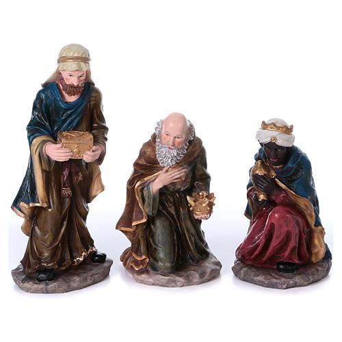 Presepe completo 50 cm resina 10 statue mod. color 3