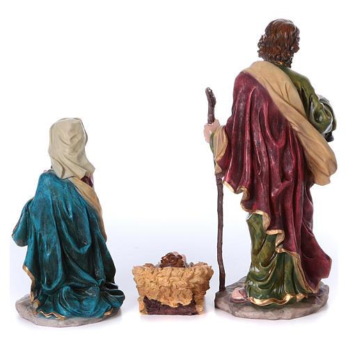 Presépio completo resina pintada 10 figuras altura média 50 cm 5