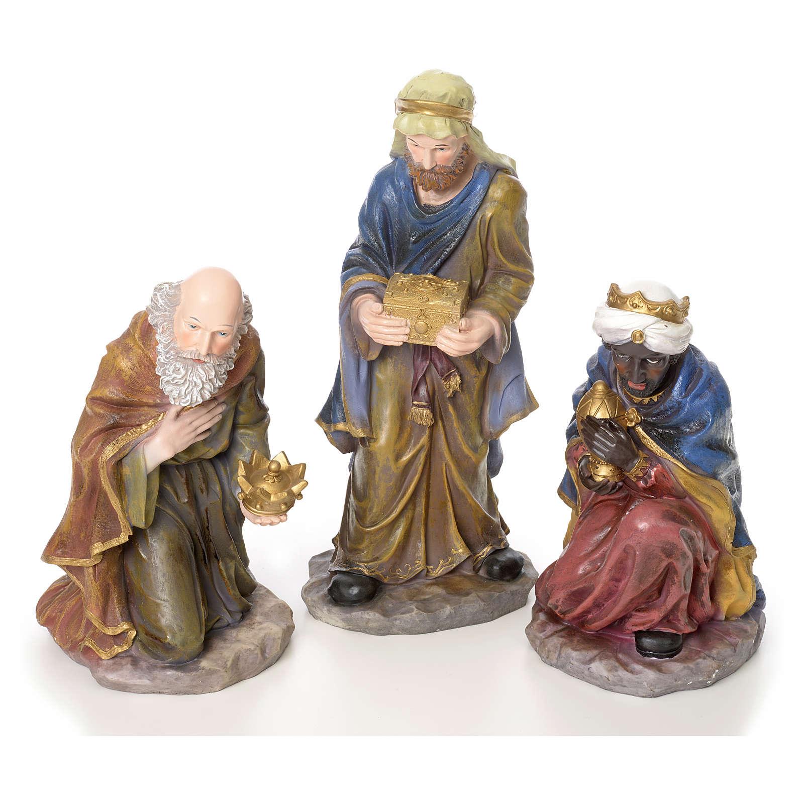 Crèche complète 10 santons résine 50cm modèle adoration 4