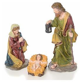 Crèche complète 10 santons résine 50cm modèle adoration s2