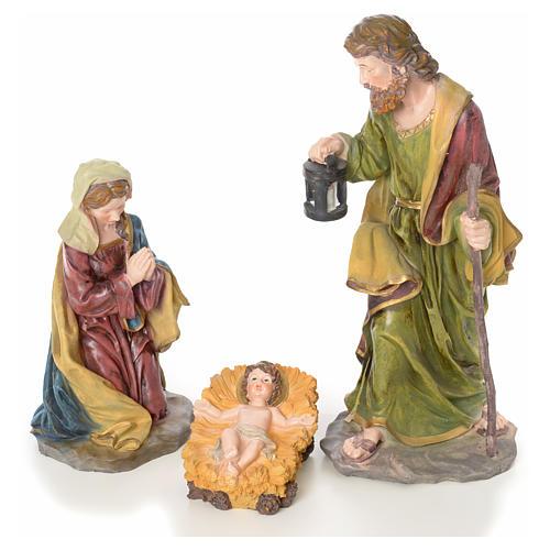 Crèche complète 10 santons résine 50cm modèle adoration 2
