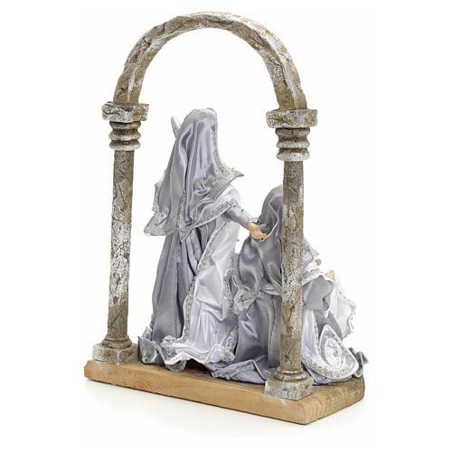 Natività con arco 30,5 cm Silver 3