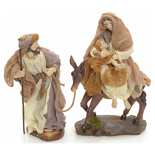 Flight into Egypt 23cm cream and gold 1
