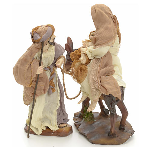 Flight into Egypt 23cm cream and gold 2