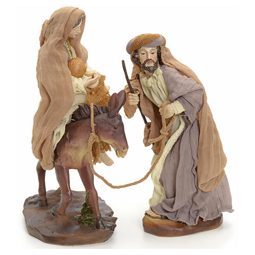 Flight into Egypt 23cm cream and gold 3
