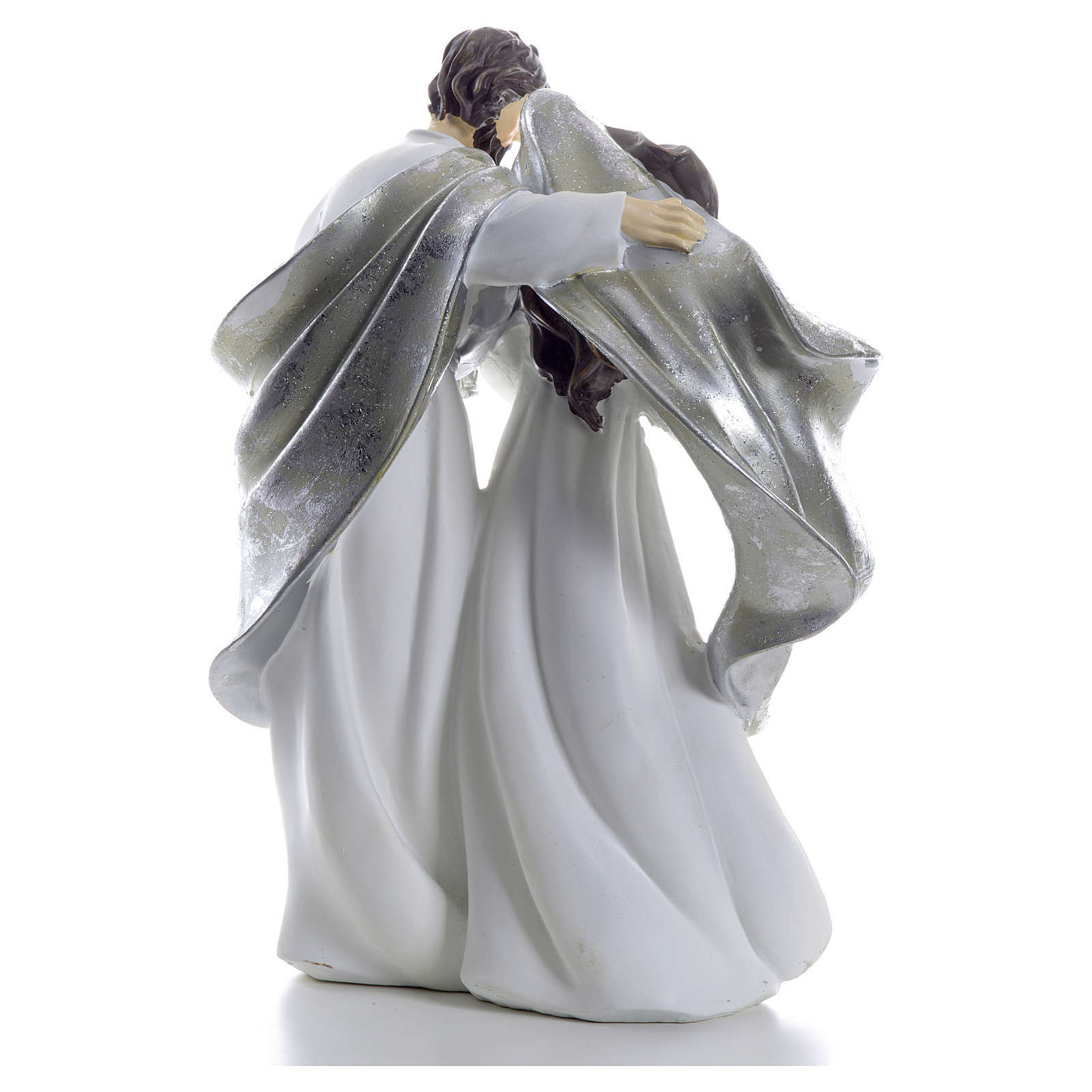 Nativity scene 41cm, Silver resin 3