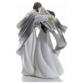 Nativity scene 41cm, Silver resin s3