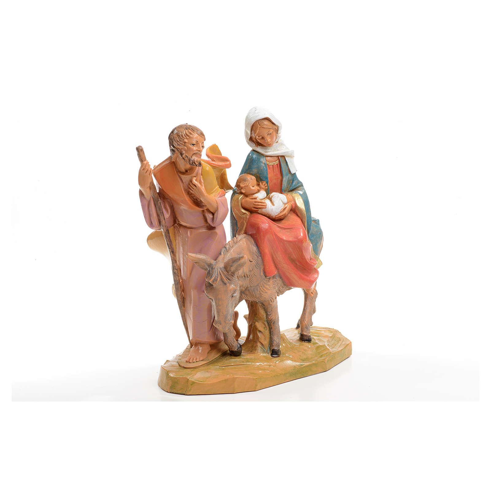 Fuga in Egitto 16x16 cm Fontanini 4